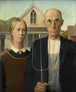 The restaurant is named after the real names of the people who posed for the famous American Gothic House painting by Grant Wood.